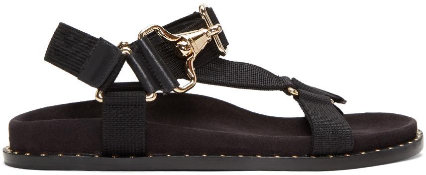 Burberry Black Ardall Sandals 2017-4-8